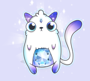 Rare cryptokitty purple