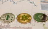 bitcoin ethereum litecoin coin and chart BITCOIN VS. ETHEREUM VS. LITECOIN