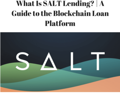 What Is SALT Lending?
