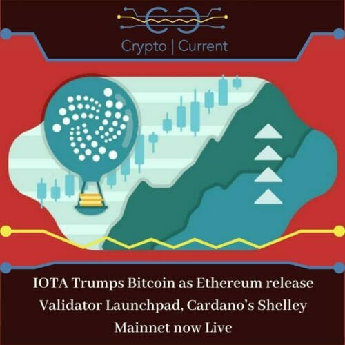 IOTA Trumps Bitcoin as Ethereum release Validator Launchpad, Cardano's Shelley Mainnet now Live