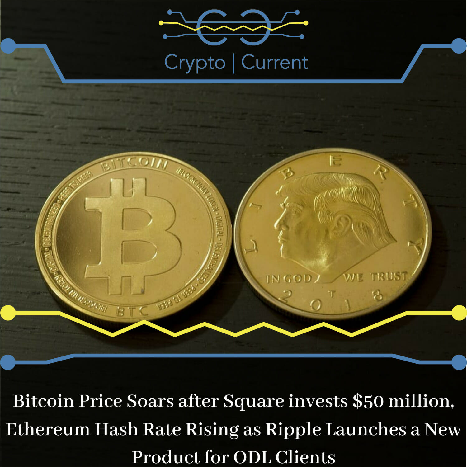 Bitcoin Price Soars after Square invests $50 million, Ethereum Hash Rate Rising as Ripple Launches a New Product for ODL Clients