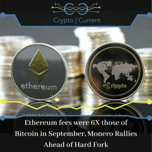 Ethereum fees were 6X those of Bitcoin in September, Monero Rallies Ahead of Hard Fork