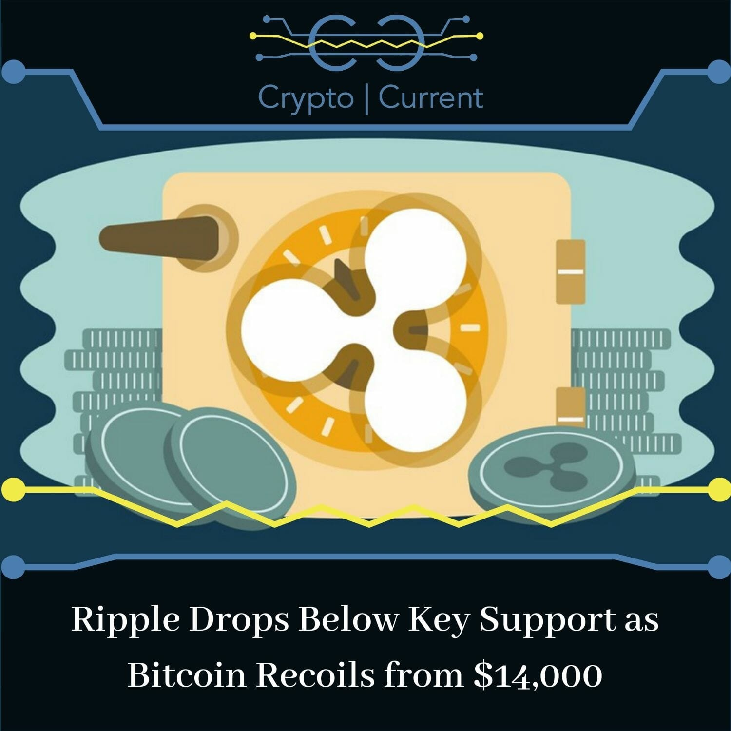 Ripple Drops Below Key Support as Bitcoin Recoils from $14,000