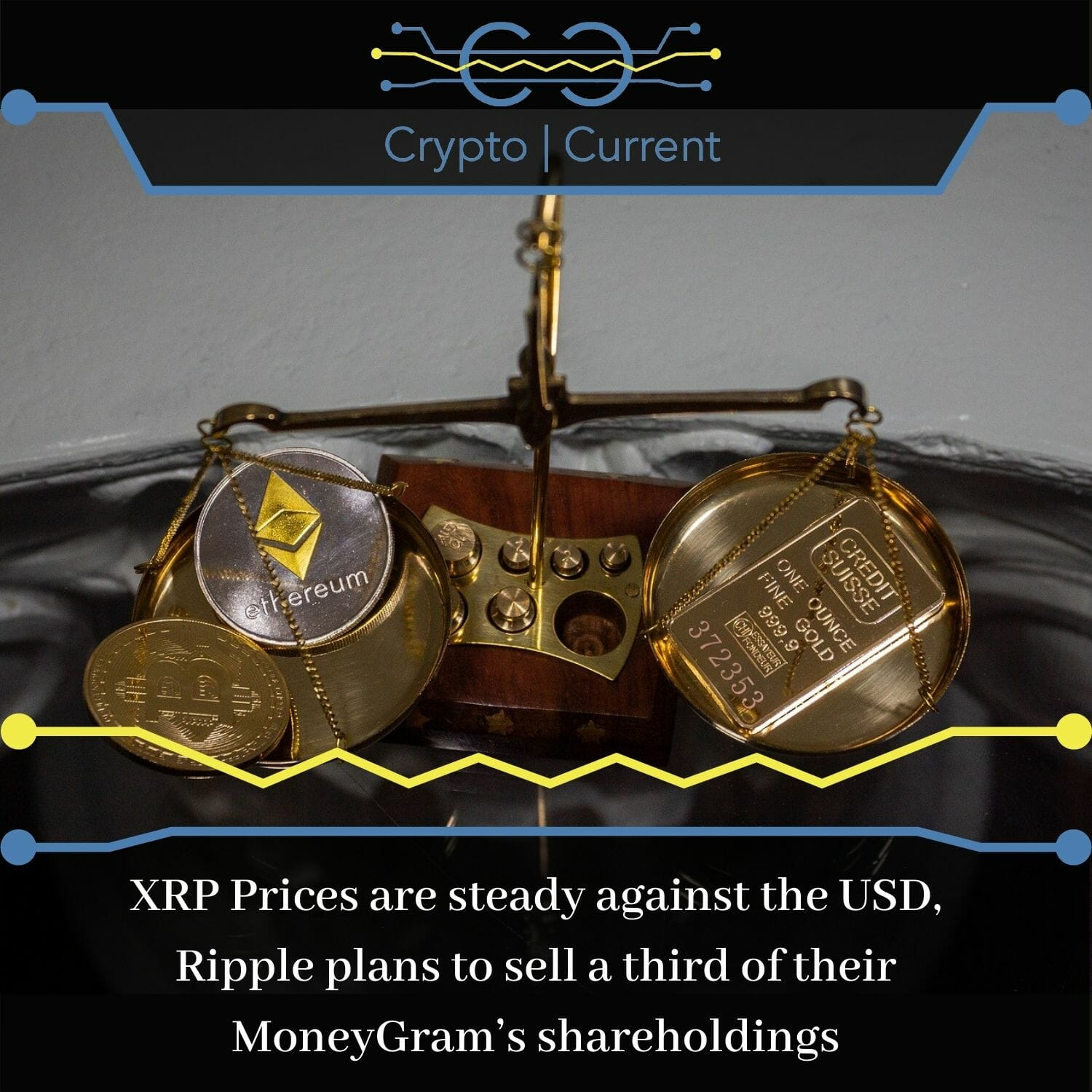 XRP Prices are steady against the USD, Ripple plans to sell a third of their MoneyGram's shareholdings