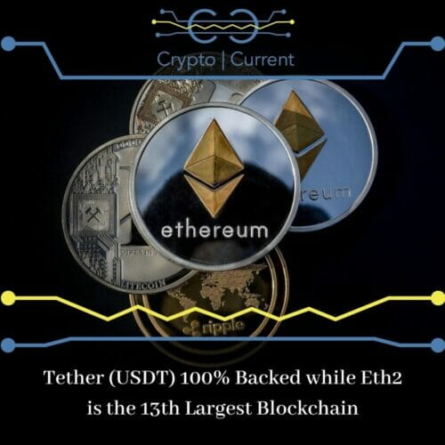 Tether (USDT) 100% Backed while Eth2 is the 13th Largest Blockchain