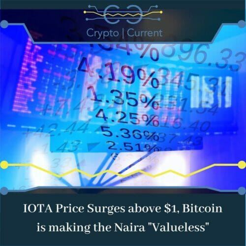 "IOTA Price Surges above $1, Bitcoin is making the Naira ""Valueless"""