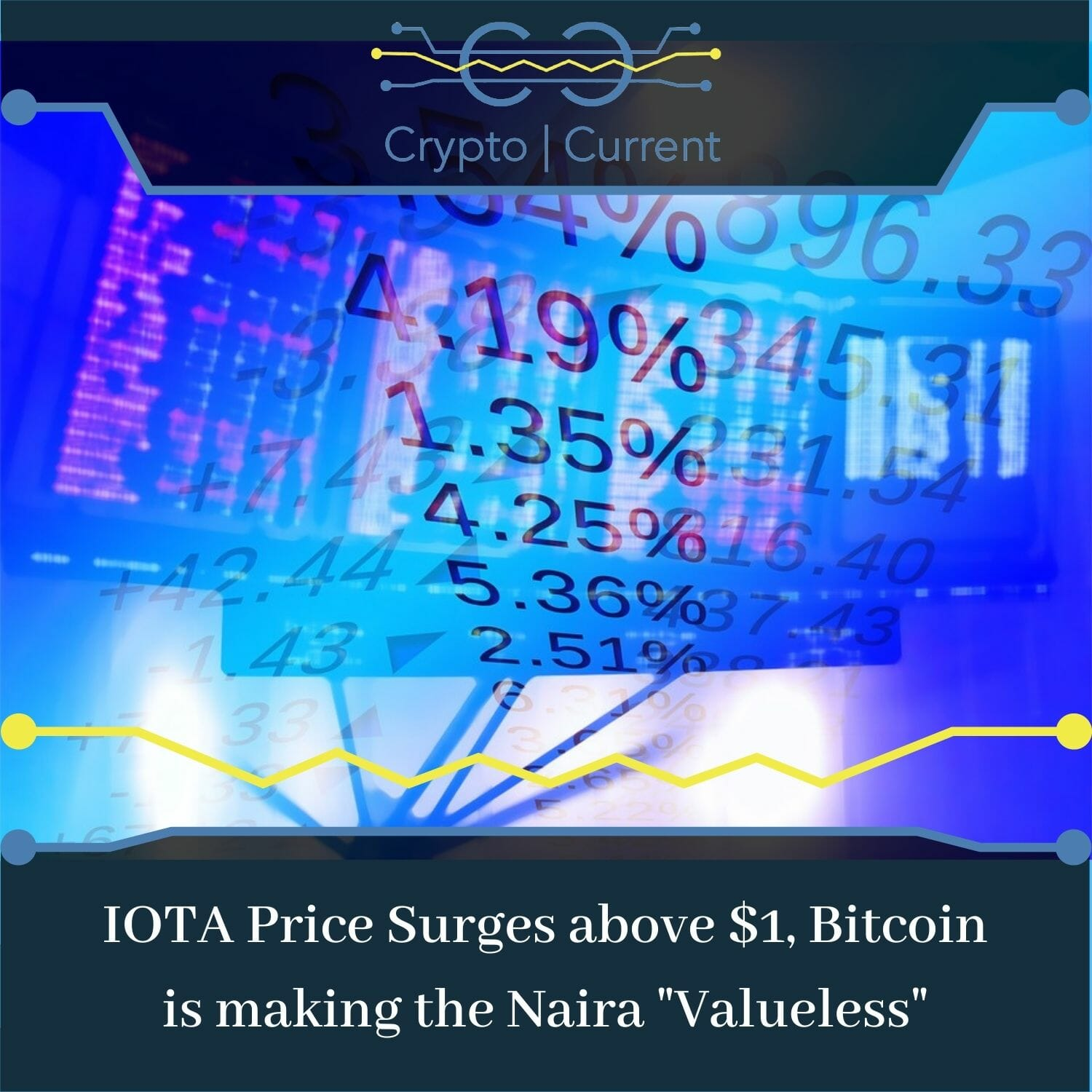 """IOTA Price Surges above $1, Bitcoin is making the Naira """"Valueless"""""""
