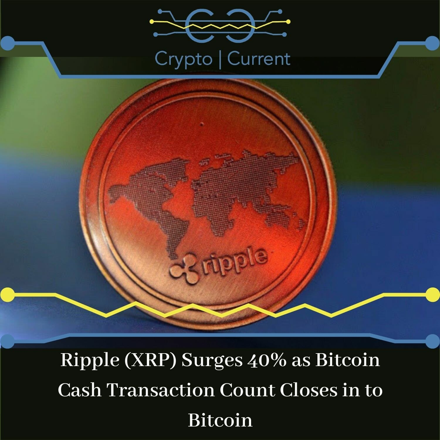 Ripple (XRP) Surges 40% as Bitcoin Cash Transaction Count Closes in to Bitcoin