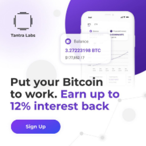 Tantra Labs is a team of researchers, engineers, data scientists, economists, and optimists. Our primary focus is Bitcoin, a more prosperous future built on sound money.Tantra Labs started trading Bitcoin over 2 years ago. In that time we have gone from 10 Bitcoin AUM to over 1000+ Bitcoin in our platform. 1)Realtime loan tracking 2)Fast automated onboarding 3)100% payment history 4)Multisig storage 5)12% APY, 12-month term