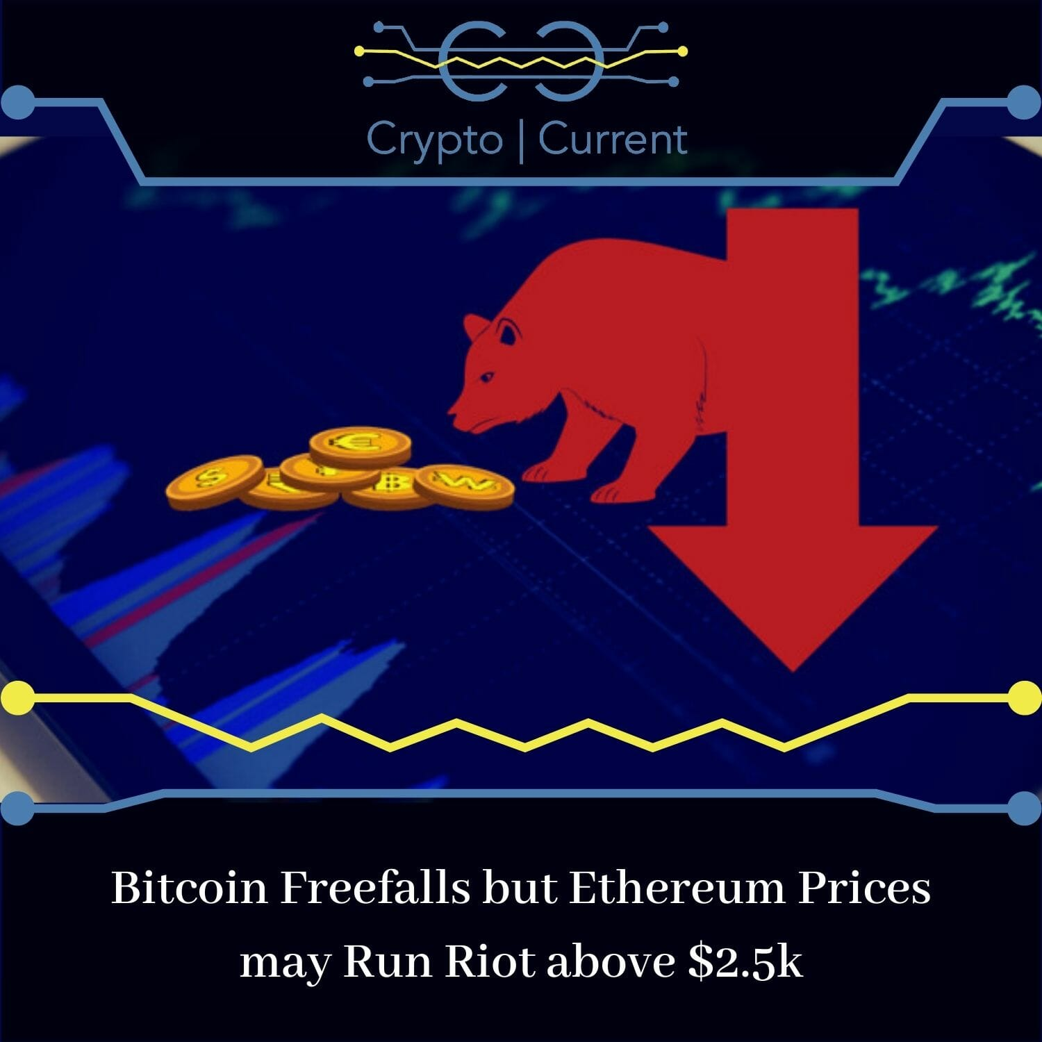 Bitcoin Freefalls but Ethereum Prices may Run Riot above $2.5k