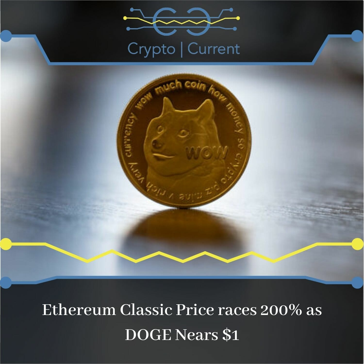 Ethereum Classic Price races 200% as DOGE Nears $1