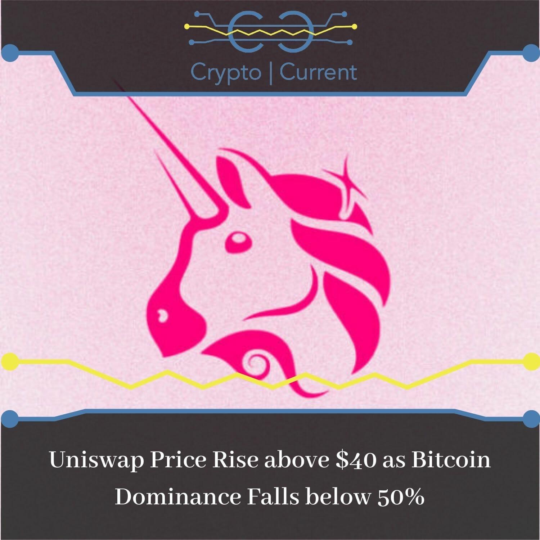 Uniswap Price Rise above $40 as Bitcoin Dominance Falls below 50%