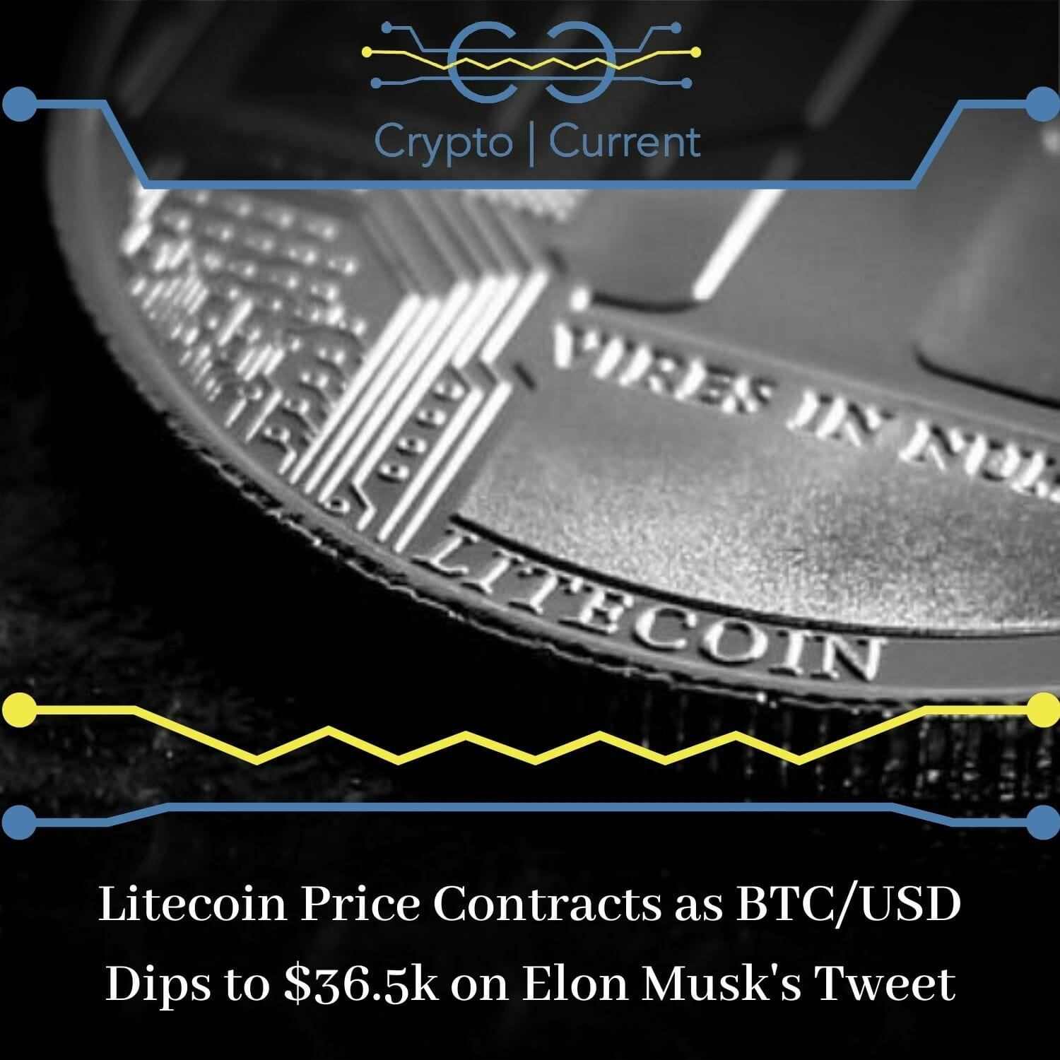Litecoin Price Contracts as BTC/USD Dips to $36.5k on Elon Musk's Tweet