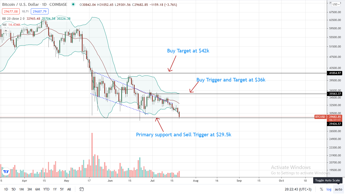 Bitcoin Price Daily Chart for July 20