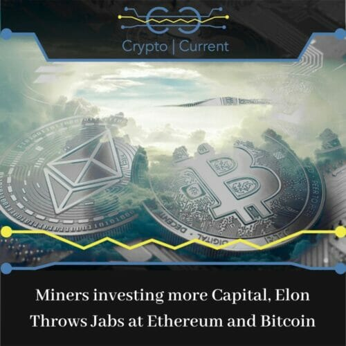 Miners investing more Capital, Elon Throws Jabs at Ethereum and Bitcoin