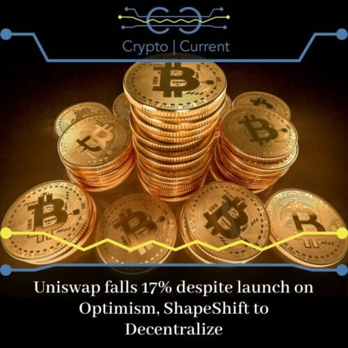 Uniswap falls 17% despite launch on Optimism, ShapeShift to Decentralize